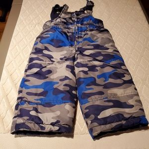 Carter's camo snow pants